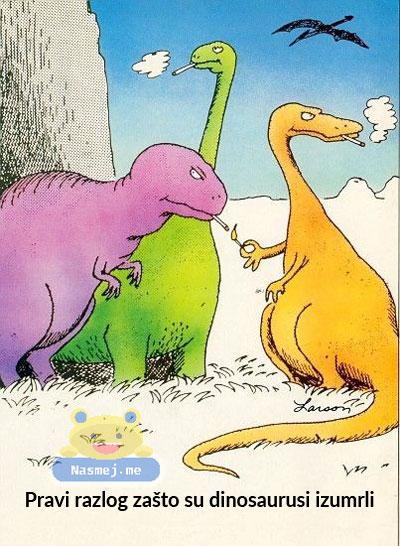 Pravi razlog zašto su dinosaurusi izumrli